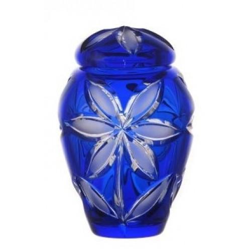 Urna Linda mat, kolor niebieski, wielkość 120 mm
