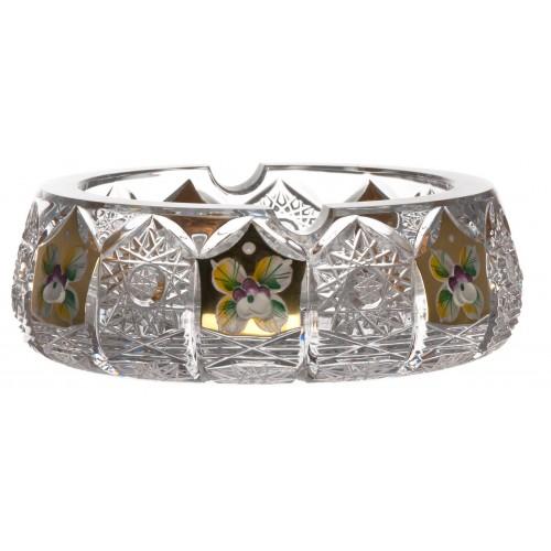Popielniczka 500PK Złoto, szkło kryształowe bezbarwne, średnica 150 mm