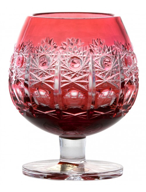 Kieliszek do brandy Petra, kolor rubinowy, objętość 230 ml