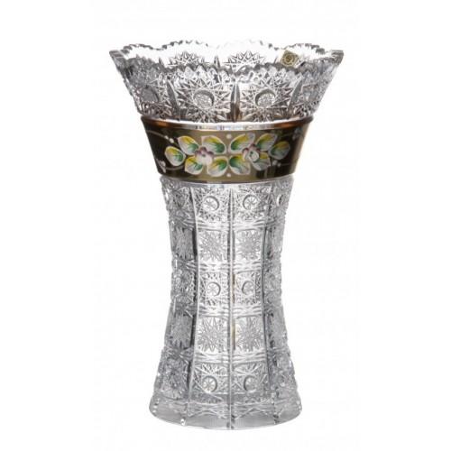 Wazon emalia II, szkło kryształowe bezbarwne, wysokość 255 mm