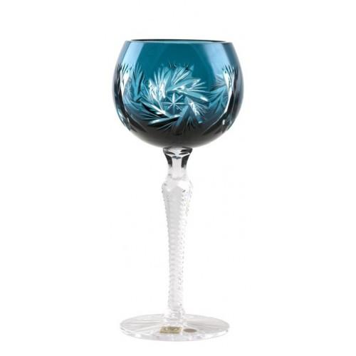 Kieliszek do wina Wiatraczek, kolor turkusowy, objętość 190 ml