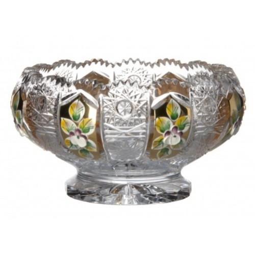 Miseczka emalia, szkło kryształowe bezbarwne, średnica 128 mm