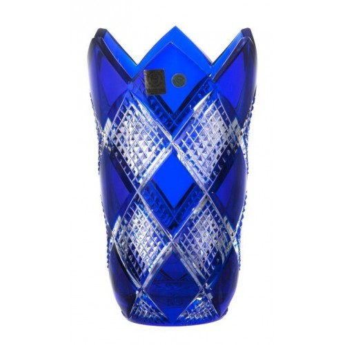 Wazon Kolumbina, kolor niebieski, wysokość 205 mm