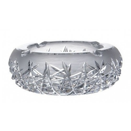 Popielniczka kryształowa Szron, szkło kryształowe bezbarwne, średnica 205 mm