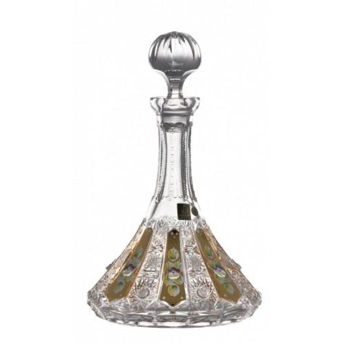 Butelka Złoto, szkło kryształowe bezbarwne, objętość 1050 ml