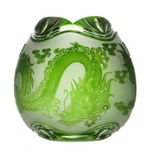 Wazon Smok, kolor zielony, wysokość 280 mm