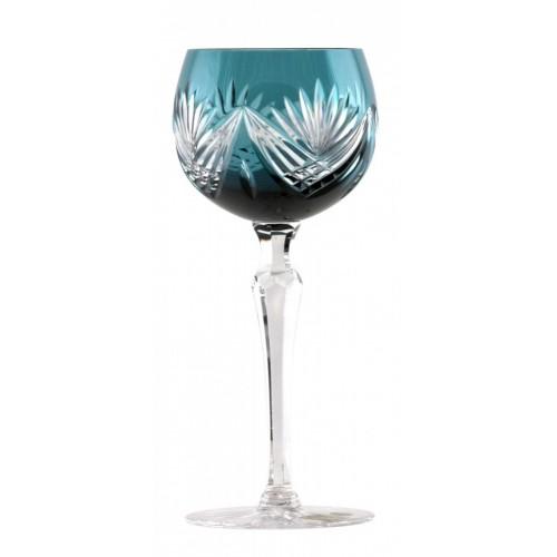 Kieliszek do wina Janette, kolor turkusowy, objętość 190 ml