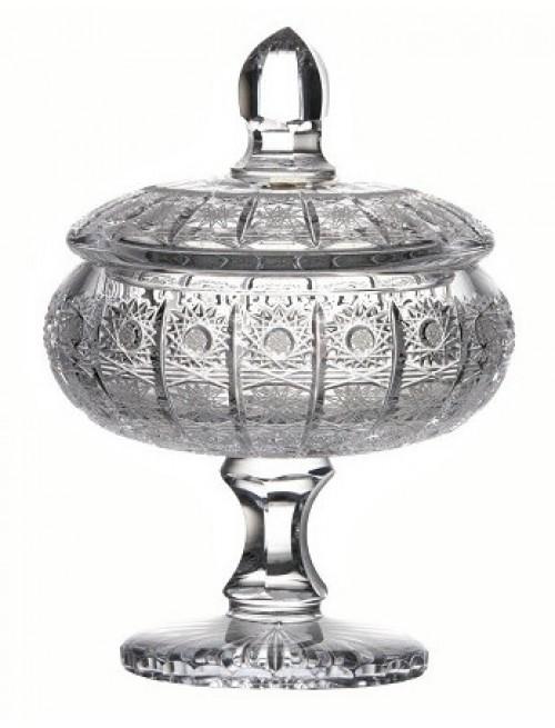 Bomboniera 500PK, szkło kryształowe bezbarwne, wysokość 262 mm