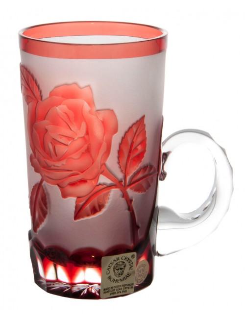 Kubek Róża, kolor rubinowy, objętość 100 ml