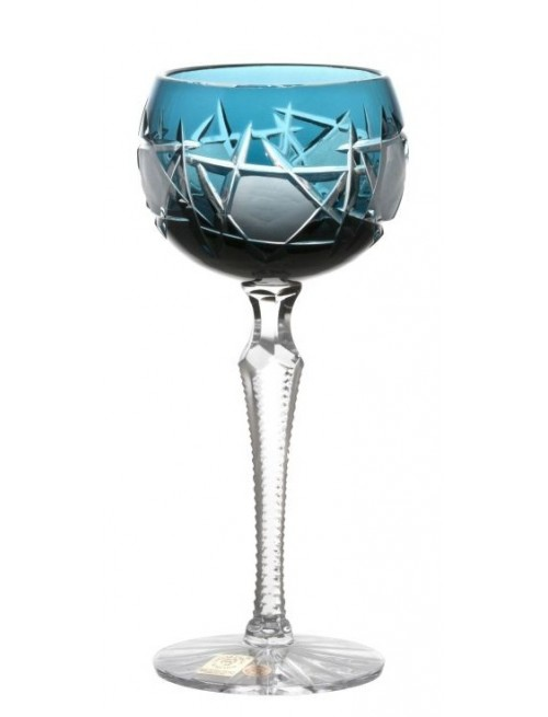 Kieliszek do wina Mars, kolor turkusowy, objętość 190 ml