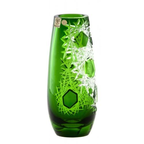 Wazon Mróz, kolor zielony, wysokość 205 mm