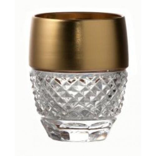 Likierówka złoto, szkło kryształowe bezbarwne, objętość 50 ml