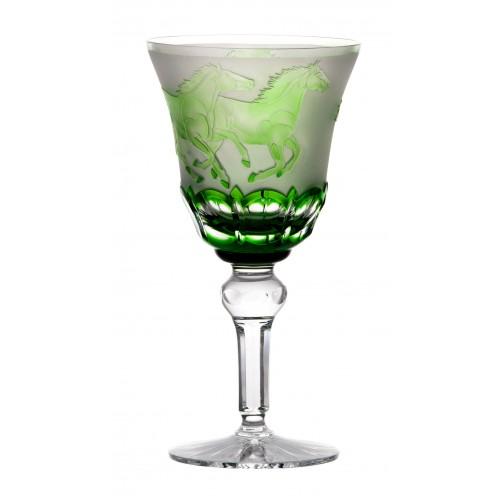 Kielizek do wina Konie, kolor zielony, objętość 180 ml
