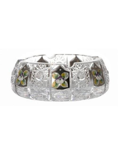 Popielniczka 500k platyna, szkło kryształowe bezbarwne, średnica 150 mm