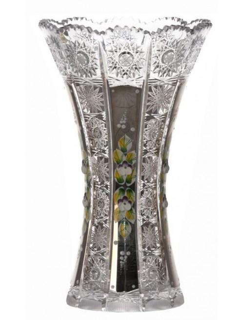 Wazon 500 platyna, szkło kryształowe bezbarwne, wysokość 255 mm