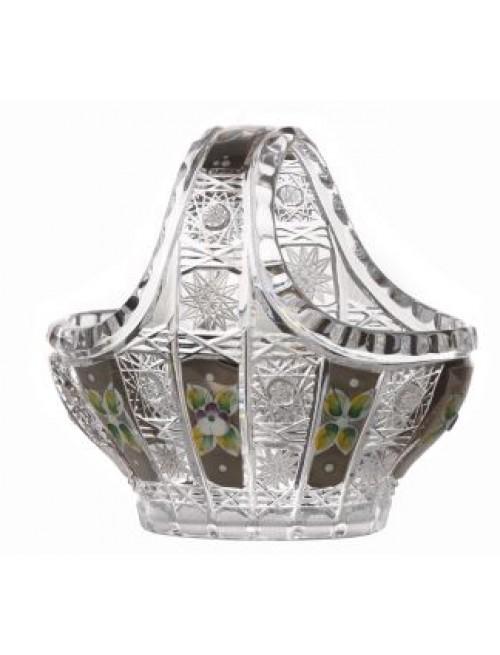 Kosz 500k platyna, szkło kryształowe bezbarwne, średnica 150 mm