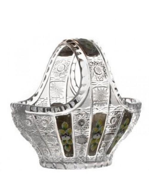 Kosz platina, szkło kryształowe bezbarwne, średnica 200 mm
