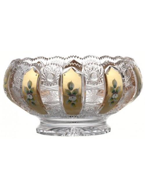Półmisek 500K Złoto, szkło kryształowe bezbarwne, średnica 260 mm