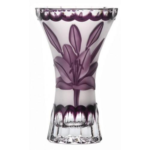 Wazon Lilia, kolor fioletowy, wysokość 155 mm