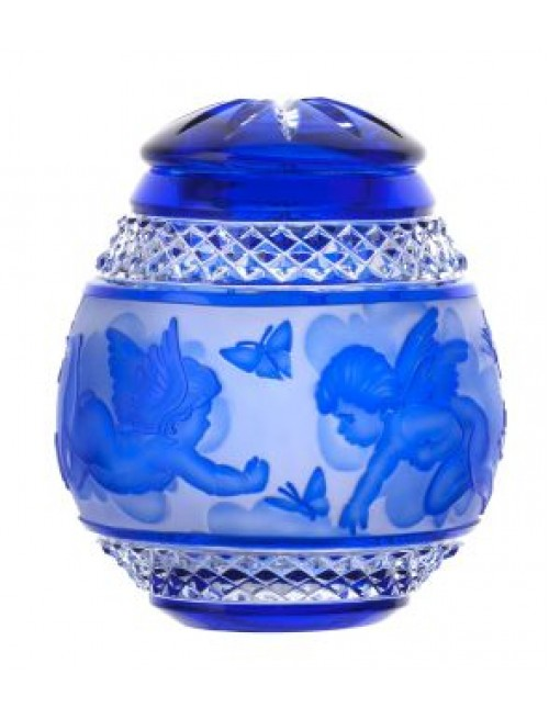 Urna Anioł, kolor niebieski, wielkość 145 mm