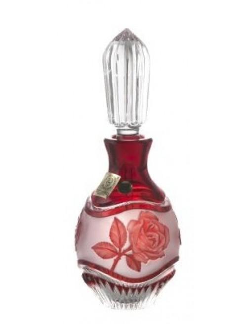 Flakon Róża + wałeczek, kolor rubinowy, objętość 130 ml