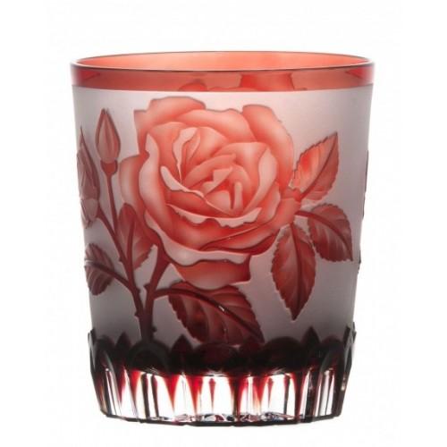 Szklanka Róża, kolor rubinowy, objętość 290 ml