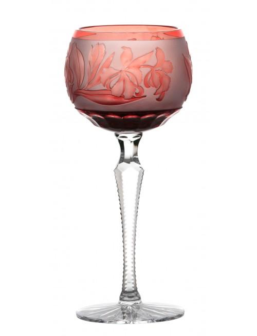 Kieliszek do wina Irys, kolor rubinowy, objętość 190 ml