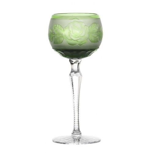 Kieliszek do wina Róża-kwiat, kolor zielony, objętość 190 ml