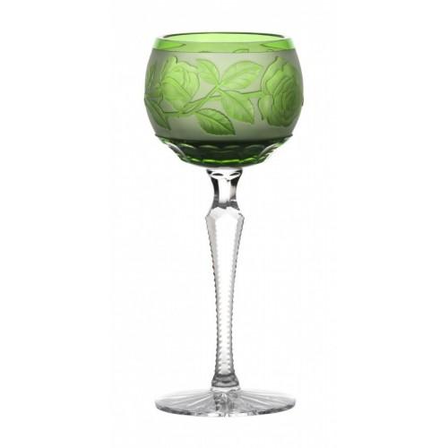 Kieliszek do wina Róża, kolor zielony, objętość 190 ml
