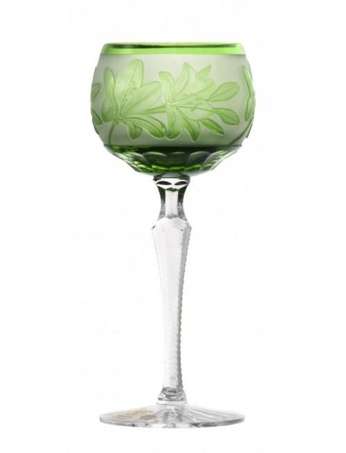 Kieliszek do wina Lilia, kolor zielony, objętość 190 ml