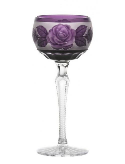 Kieliszek do wina Róża-kwiat, kolor fioletowy, objętość 190 ml