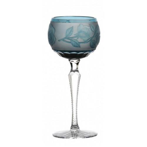 Kieliszek do wina Róża, kolor turkusowy, objętość 190 ml