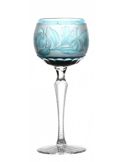 Kieliszek do wina Irys, kolor turkusowy, objętość 190 ml