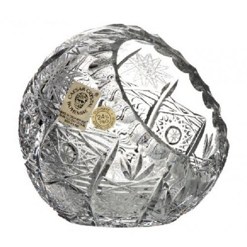 Popielniczka 500PK, szkło kryształowe bezbarwne, średnica 90 mm
