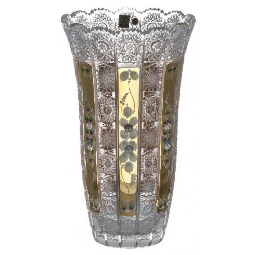 Wazon 500K Złoto, szkło kryształowe bezbarwne, wysokość 310 mm