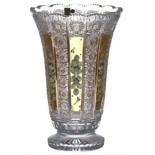 Wazon 500K Złoto, szkło kryształowe bezbarwne, wysokość 305 mm