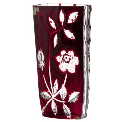 Wazon Róża, kolor czerwony, wysokość 255 mm