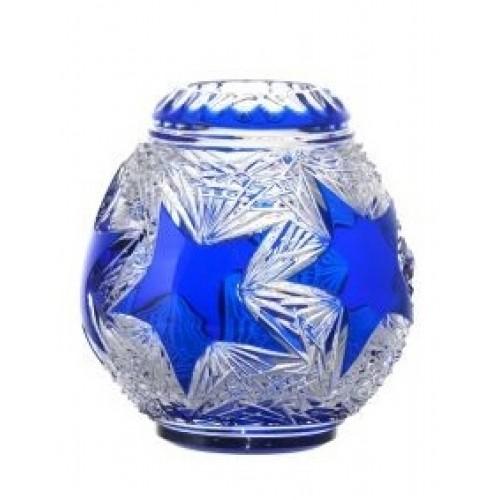 Wazon Stella, kolor niebieski, wysokość 135 mm