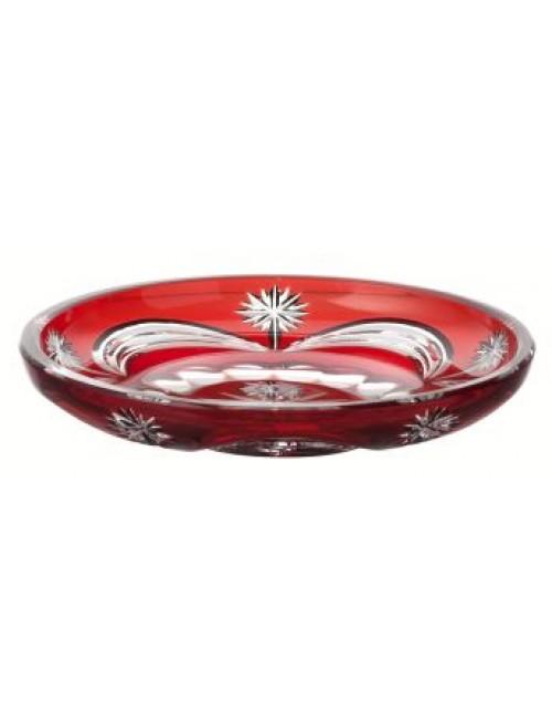 Talerz Festoonery, kolor rubinowy, średnica 180 mm