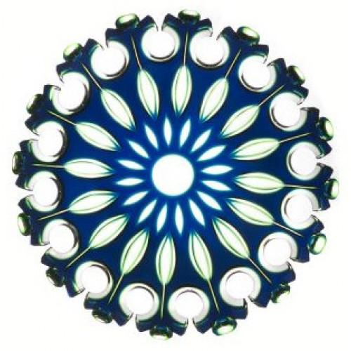 Talerz Flamenco, kolor niebieski, średnica 350 mm