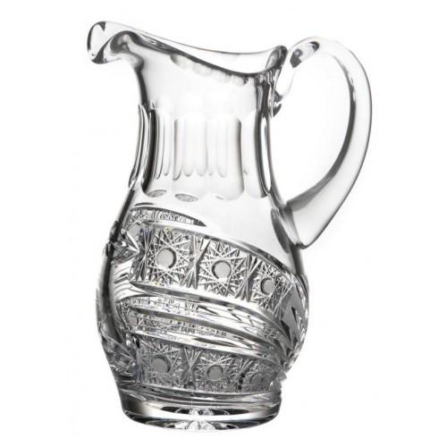 Dzbanek Kometa, szkło kryształowe bezbarwne, objętość 1250 ml