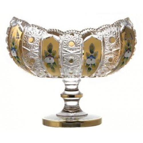 Patera 500K Złoto, szkło kryształowe bezbarwne, średnica 255 mm
