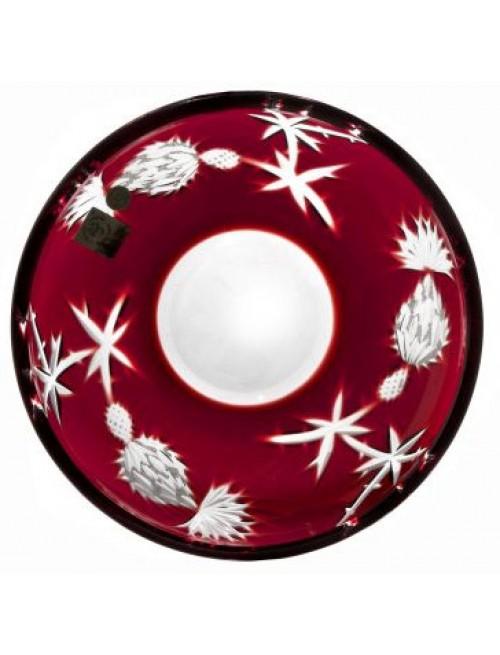 Talerz Oset, kolor rubinowy, średnica 181 mm