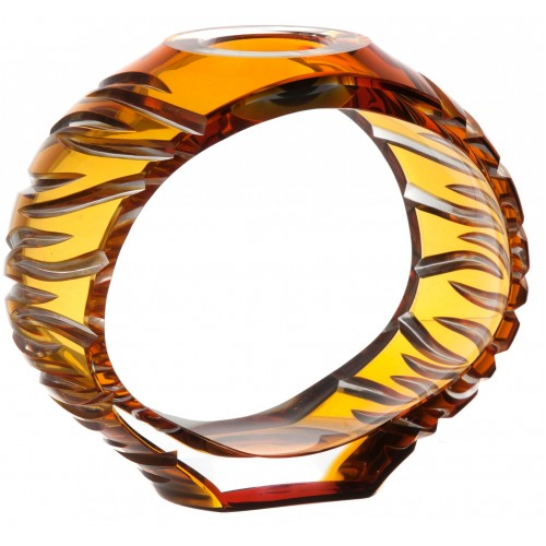 Świecznik Ara, kolor bursztynowy, wysokość 165 mm