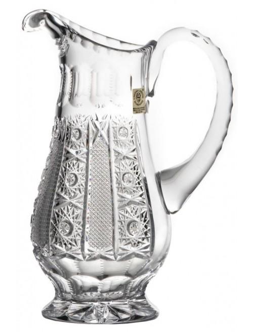 Dzbanek Iris, szkło kryształowe bezbarwne, objętość 1150 ml