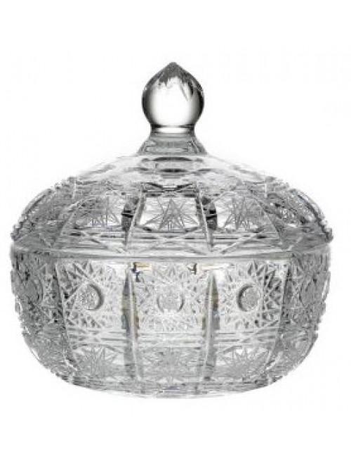 Bomboniera 500PK, szkło kryształowe bezbarwne, wysokość 116 mm