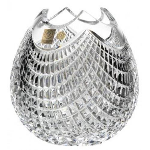 Wazon Quadrus, szkło kryształowe bezbarwne, wysokość 210 mm