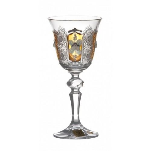 Kieliszek do wina Laura 500K Złoto, szkło kryształowe bezbarwne, objętość 130 ml