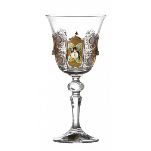 Kieliszek do wina Laura 500K Złoto, szkło kryształowe bezbarwne, objętość 170 ml