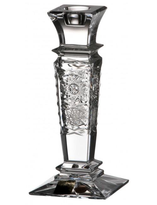 Świecznik 500pk, szkło kryształowe bezbarwne, wysokość 150 mm